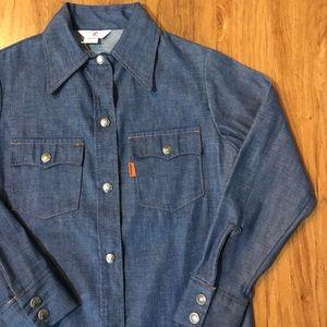 Vintage 1970's Levi's Gals Denim Shirt Authentic